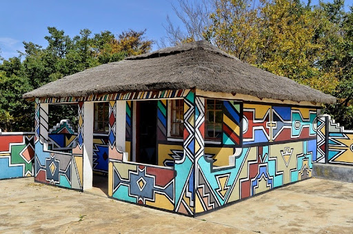 Ndebele house paintings pictures