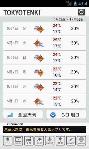 【免費天氣App】東京天気-APP點子