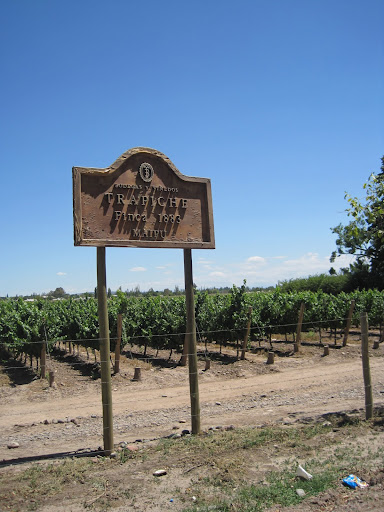 A sign for the Trapiche bodega.