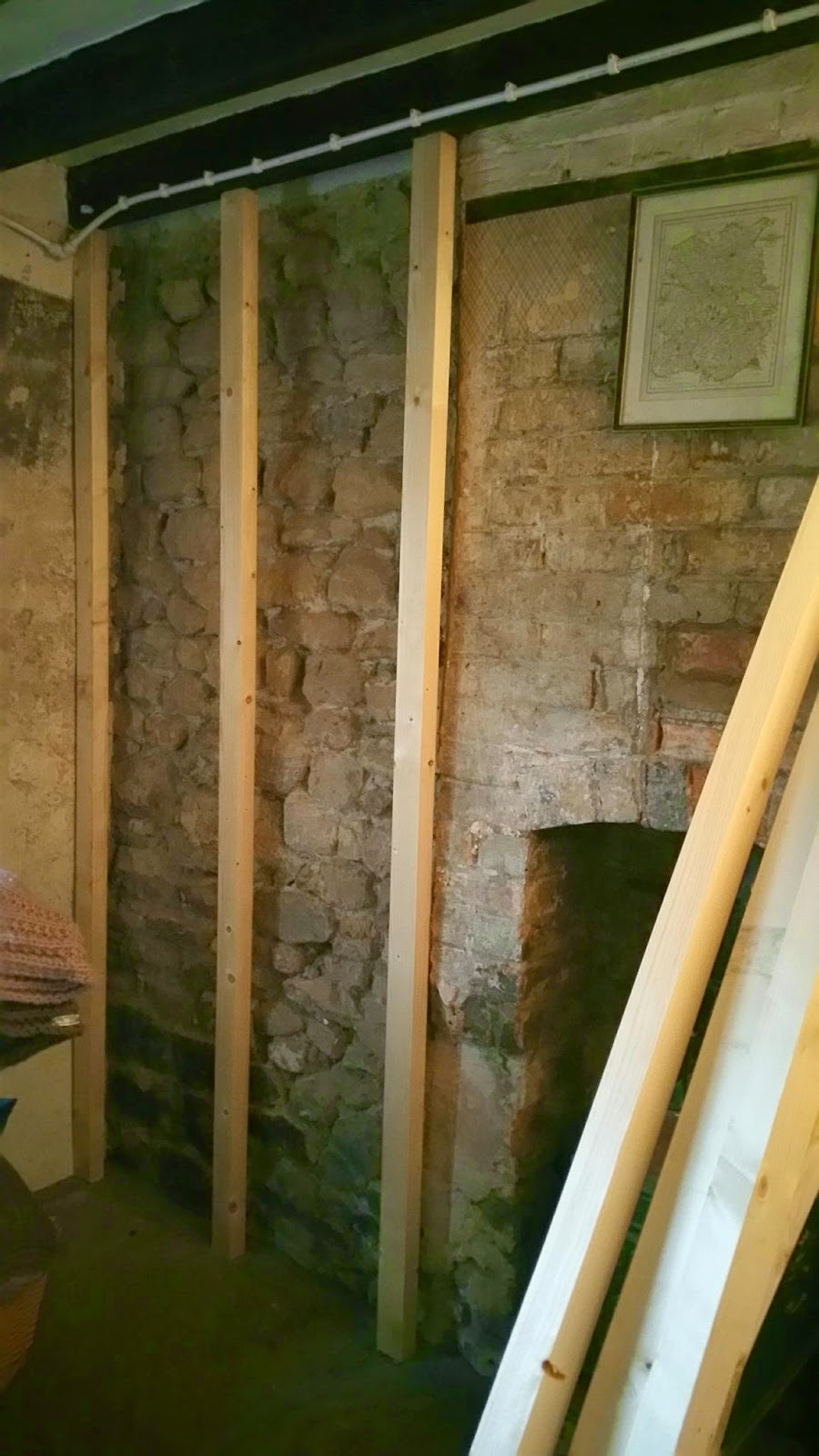 Renovating an old stone cottage march 2015 for Rock wall insulation