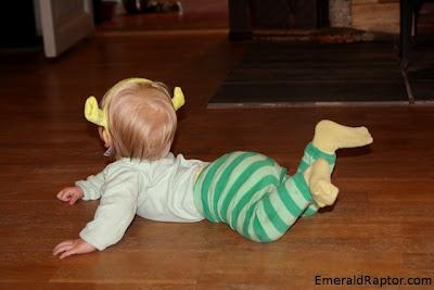 Baby utkledd som ogre