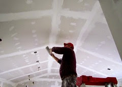 1410084 Oct 13 Terry Sanding The Ceiling In Great Room