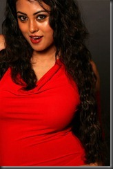 meenakshi in red dress