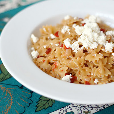 Risotto Style Pasta with Sun Dried Tomatoes and Goat Cheese