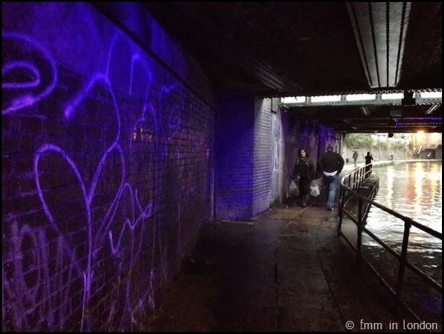 Blue light Regent's Canal
