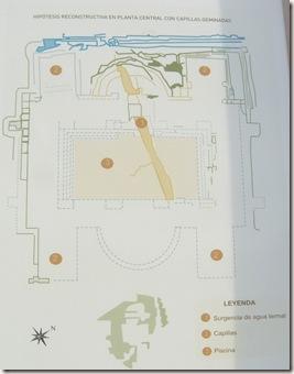 Plano del Ninfeo de Baños de Fortuna