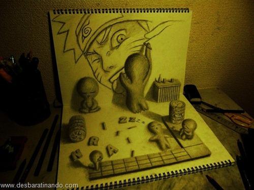 desenhos lapis 3D desbaratinando  (9)