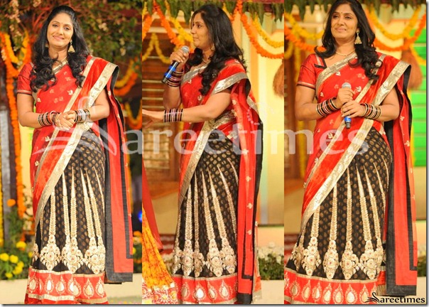 Jhansi_Red_Black_Half_Saree