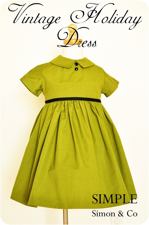 vintage holiday dress tutorial