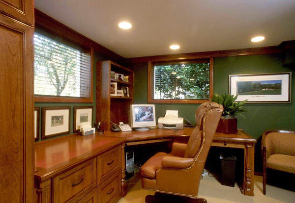 Wooden Custom Home Office Furniture Ideas Home Office Design Ideas