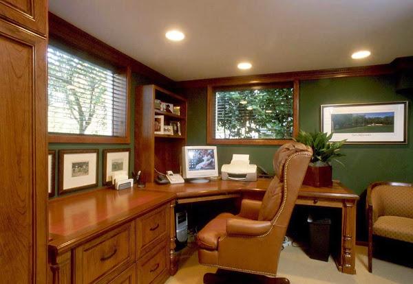 Wooden Custom Home Office Furniture Ideas Home Office Design Ideas
