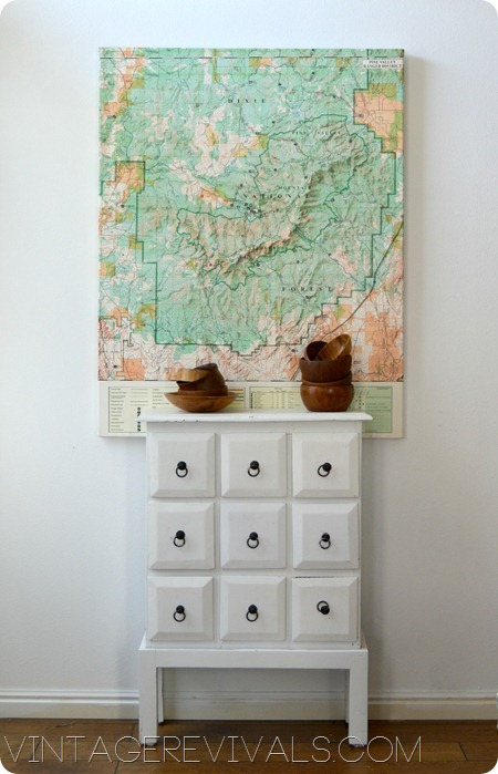 Map Decor White Chest Wooden Bowls