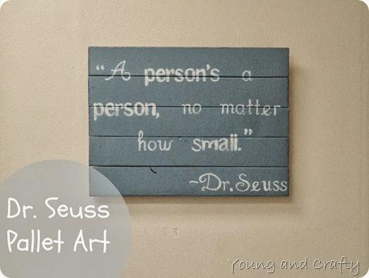 Dr. Seuss Pallet Art