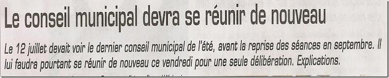 Conseil du 19 juillet 20001