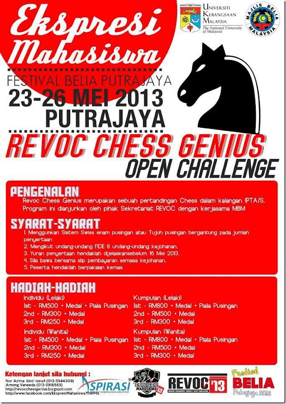 Revoc Chess Putrajaya 2013