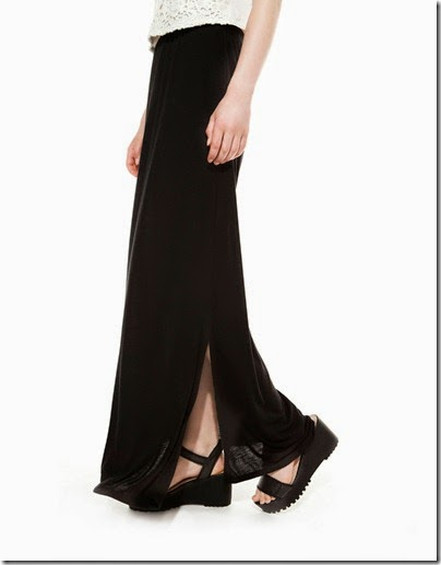 Bershka elastic band maxi / long skirt