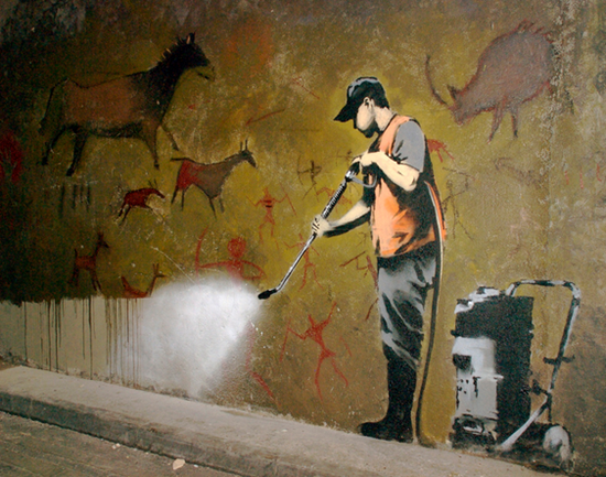 Banksy street artist amazing graffiti art and quotes for Meaningful paintings pictures