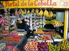 Colorful fruit displays are the norm at Medellin's large farmer's market.jpg