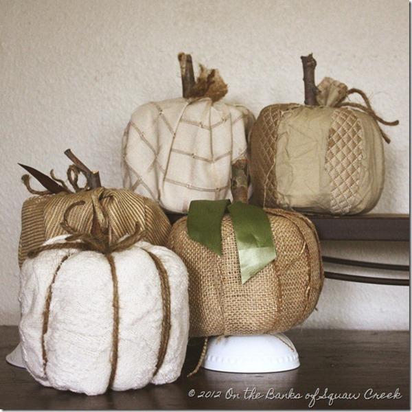 burlap toilet paper pumpkins