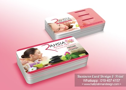 BUSINESS CARD DESIGN RAHSIA AROMA SPA