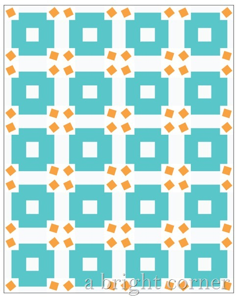 Jumble quilt block tutorial by Andy of A Bright Corner - fun scrappy quilt block
