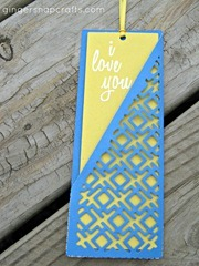pocket bookmark blue & yellow