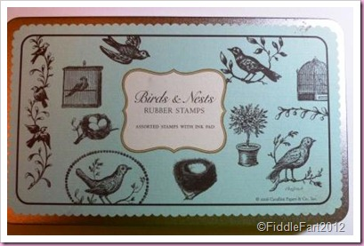Bird and nest Rubber stamps