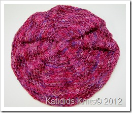 Cabled slouch hat 007