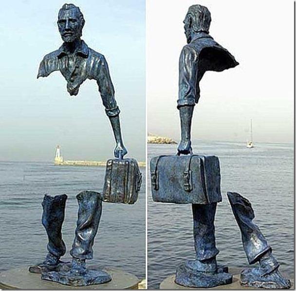 位於法國雕像,由雕刻家 Bruno Catalano 所創作(這個雕像的臉孔怎麼有點像賈伯斯啊!)