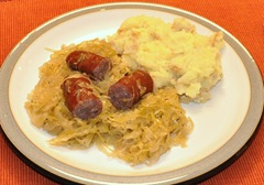 Brat Kraut and Taters