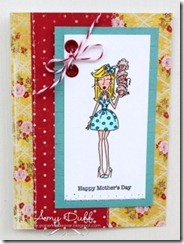 Amys 9th May card Cupcake mother by Amy Duff