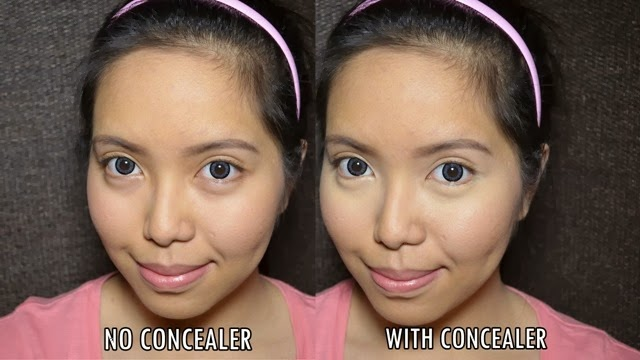 hd concealer before after