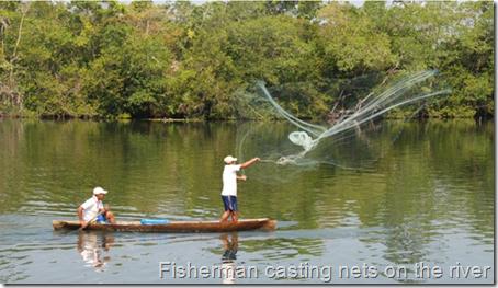 Rio Dulce fisherman casting nets 002
