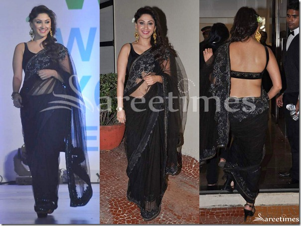Manjari_Fadnis_Black_Saree
