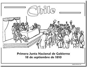 PRIMERA JUNTA NACONAL CHILE 1