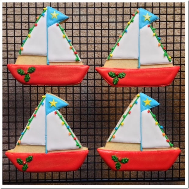 boat parade cookies