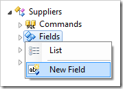 Creating a new field for Suppliers controller.