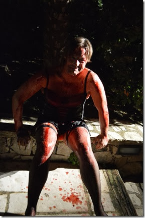 Antoine Martin in bloody drag