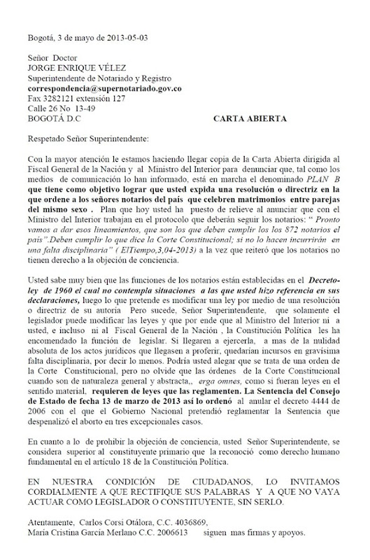 Carta SuperNotariado