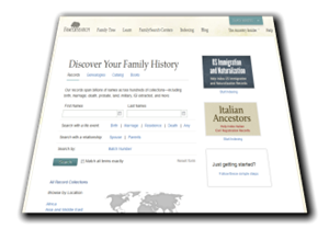 FamilySearch.org search form