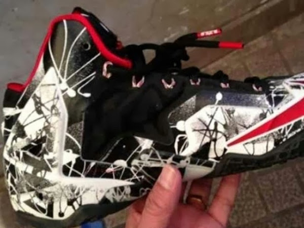 First Look at Nike LeBron XI Black  White  Red 8220Graffiti8221