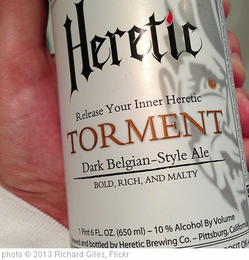 'Heretic Ale.' photo (c) 2013, Richard Giles - license: https://creativecommons.org/licenses/by-sa/2.0/