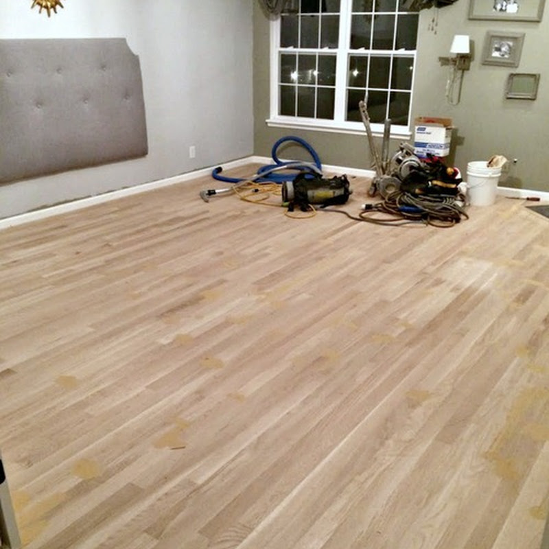 Hardwood floors in the bedroom