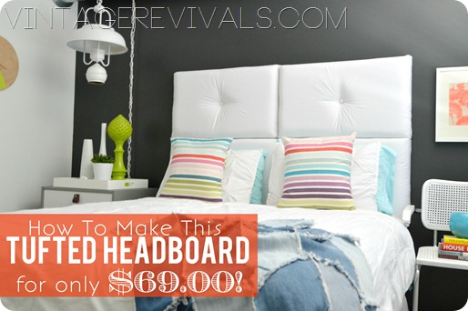 How To Make A Modern Tufted Headboard