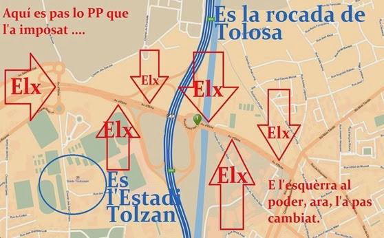 Elx mapa de Tolosa