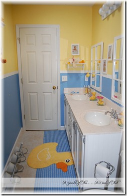 Kids Duck Bathroom {A Sprinkle of This . . . . A Dash of That}