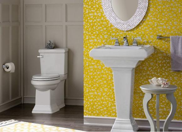 Baño Pintado De Amarillo:15 Encantadores diseños de baños en color amarillo – iDecorar