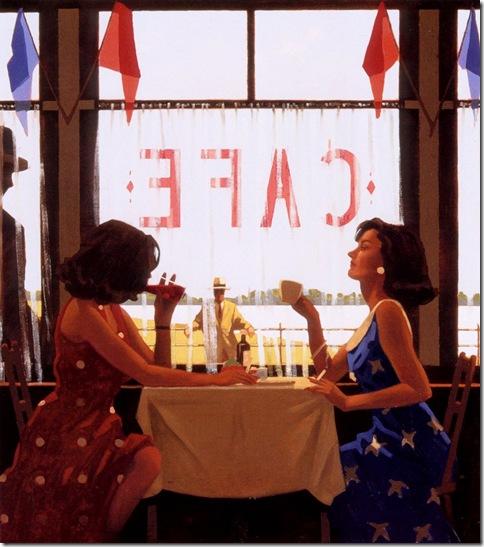 Jack Vettriano-CafeDays-NC