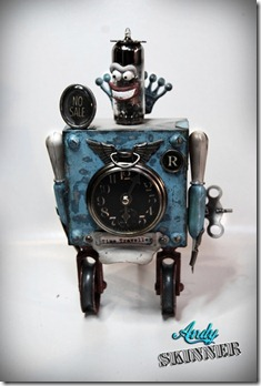 andy skinner altered art tim holtz robot