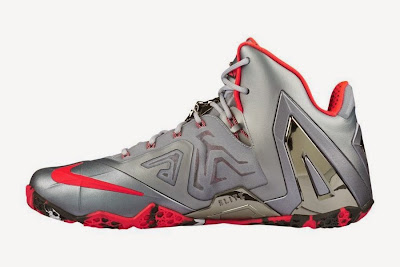 nike lebron 11 ps elite silver crimson camo 5 03 Release Reminder: Nike LeBron XI Elite Team Collection